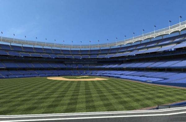 $14 seats at Yankee Stadium (left field).