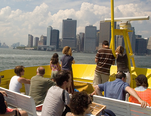 NYC Water Taxi, photo by J. Nordberg.