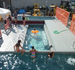 At Brooklyn swimming hole, a new kind of Dumpster-diving