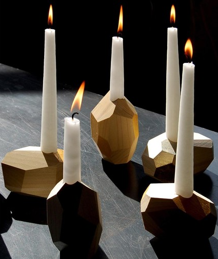 Jean Pelle's candleholders caught Design*Sponge's attention.