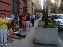the line at 7:30 a.m. [via Racked]