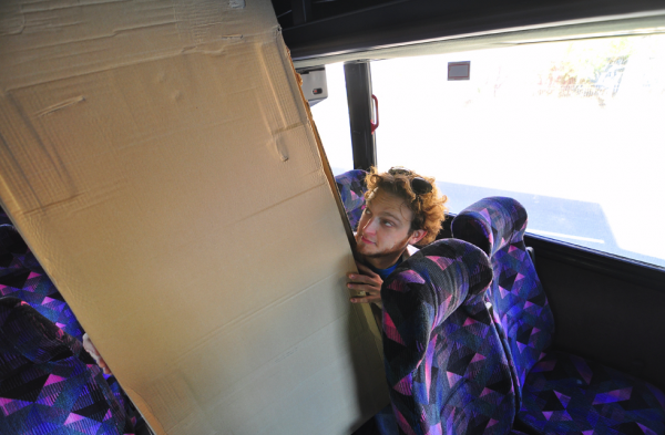 The shuttle: comfy seats, free ride, lets you off nowhere you need to go.