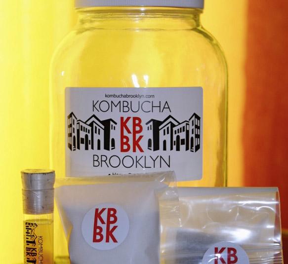 A Kombucha Brooklyn home brewing kit