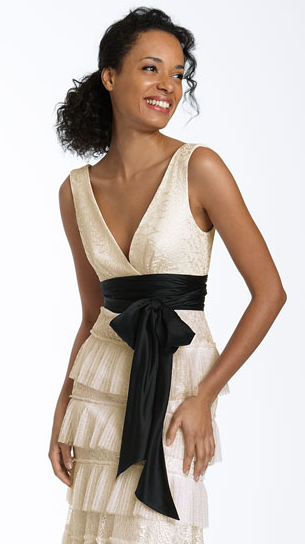 An off-the-rack BCBG Max Azria dress, $548 at Nordstrom.