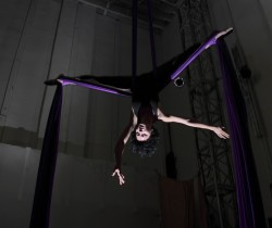 Dangle heels over head: win an aerial silk trapeze lesson