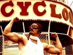 Help make the Cyclone's macho mascot