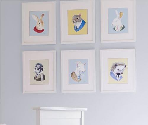 Framed animal prints, $78.