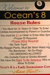 Ocean's 8 billiards