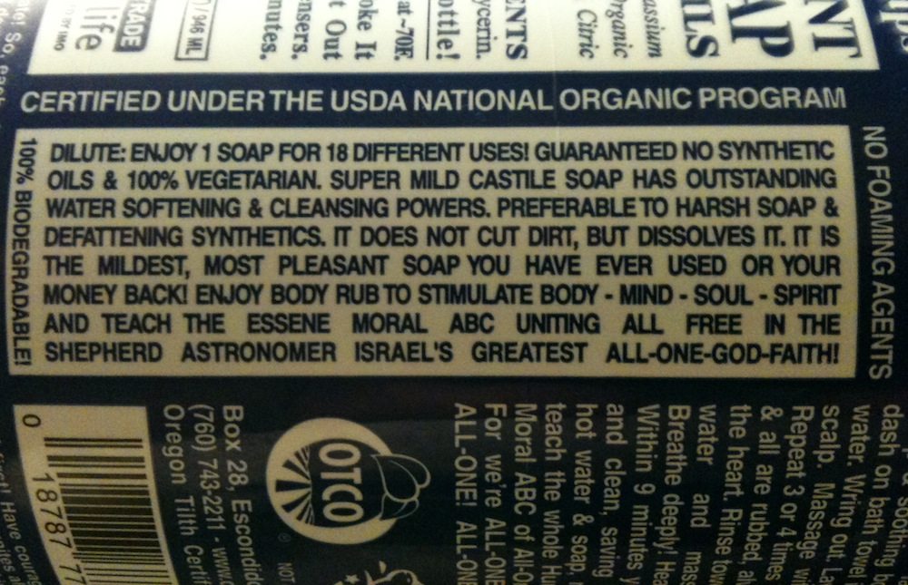 Does Dr  Bronner's really have 18 uses?
