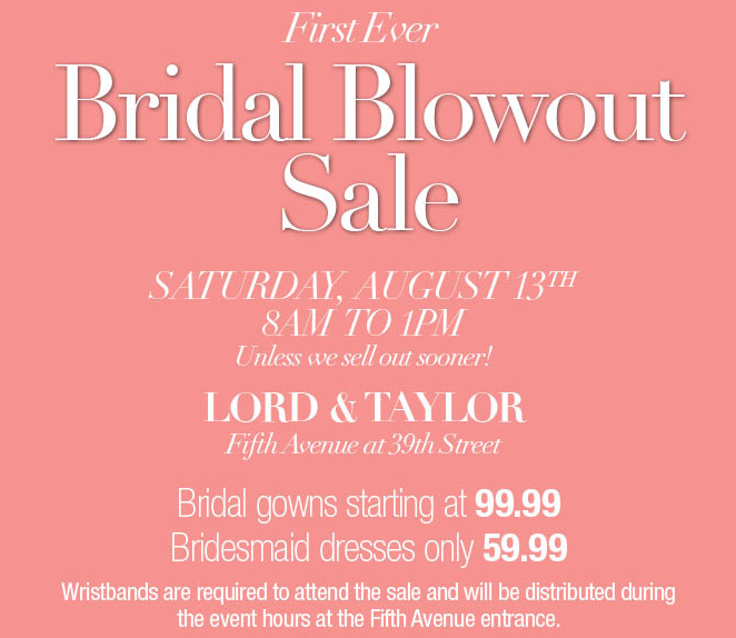 Lord Taylor Wedding Dress Sale 100 And Up
