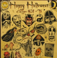 More Halloween tattoos for just $31