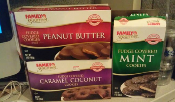 Faux Girl Scout cookies at Family Dollar