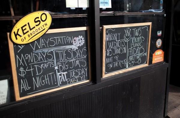 The Way Station bar in Brooklyn.