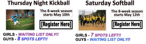 Single girls love kickball, dudes prefer softball