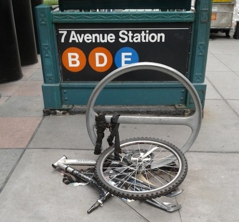 Where the hell am I supposed to park my bike in midtown?