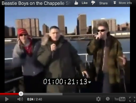 When the Beastie Boys were on a boat and almost on Chappelle's Show