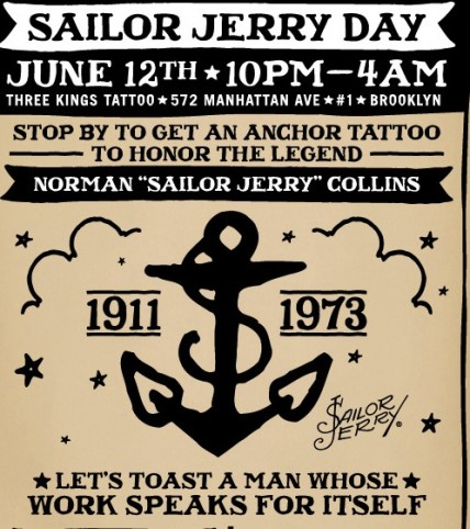 Naval gazing: Free Sailor Jerry tattoos AND rum all night