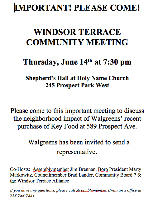Tonight: help save Windsor Terrace from grocery famine