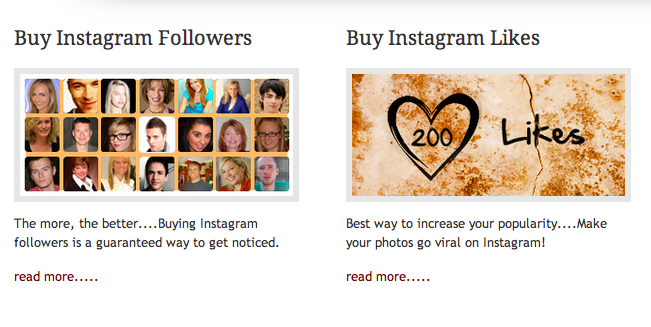 Today in signs of the times: A place to buy Instagram followers