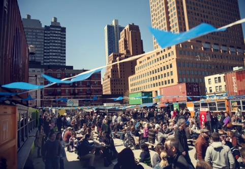 Get your om on for free with pop up yoga at Dekalb Market