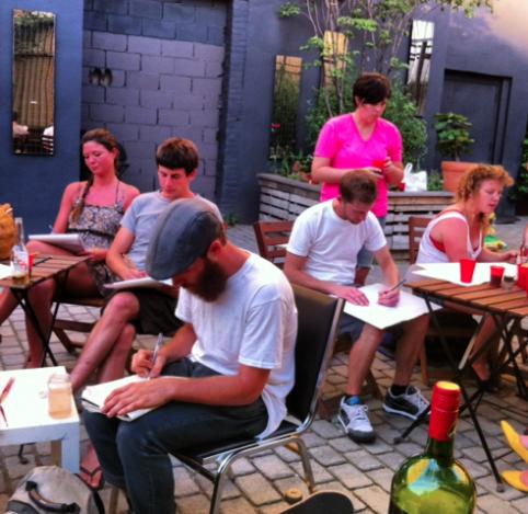 Tonight: Say 'Brokelyn' for a free drink & draw class in Bushwick