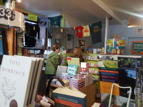 This sounds fun: A potluck meet-and-greet for writers in a bookstore