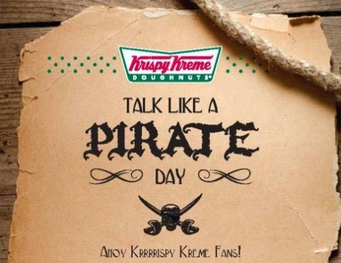 Plunder your hunger: Free donuts for pirates today