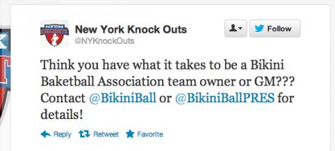 Dream job alert: Manage your own bikini basketball team