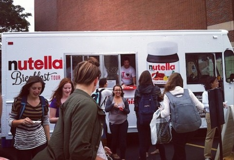 Hey free Nutella truck, what are we, chopped hazelnuts?