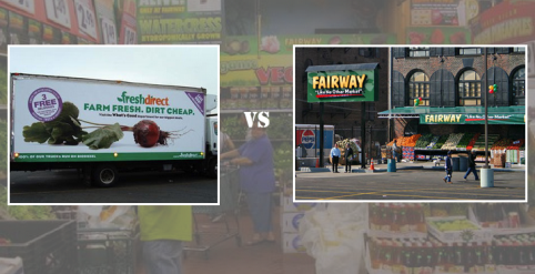 Which store is cheaper, FreshDirect or Fairway?
