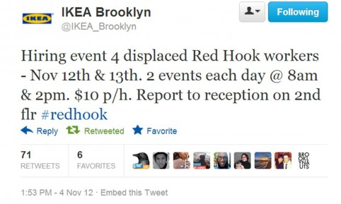 Hurricane sandy related jobs Ikea security jobs