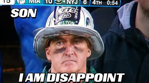 Hi five, football fan! The Jets' pain is your gain