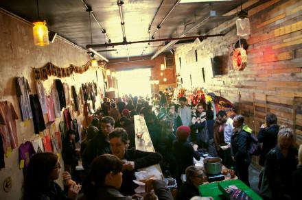 The vegan pop-up shop at Pine Box Rock Shop