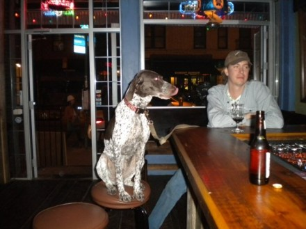 You never know who you'll sit next to at Lucky Dog