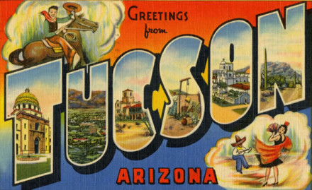 A debt collector can't send you a postcard. From Tuscon or anywhere. via Etherton Gallery