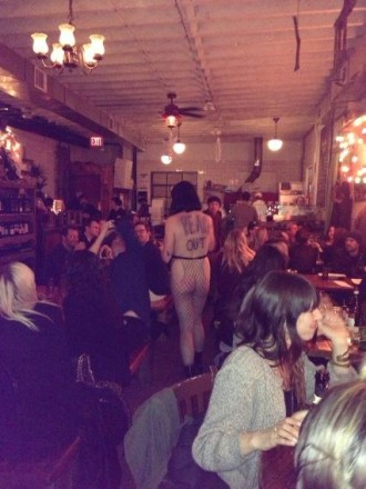 Saucy: Yes, there was a naked waitress at Roberta's