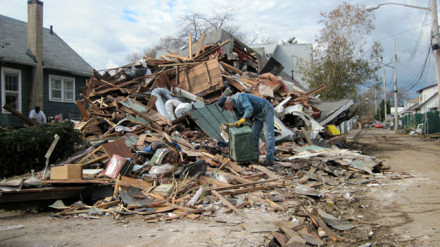 Get the muck out: Sandy recovery efforts continue. Photo via Chuck Hadad for CNN.