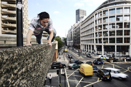 Gotta get to work on time. Photo by Parkour International.