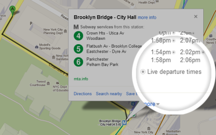 Now know when your train is running late, with GoogleMaps