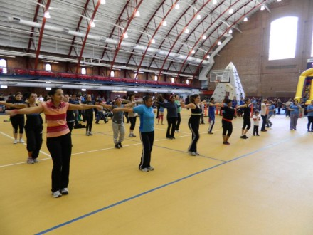 Zumba time at the Prospect Park YMCA
