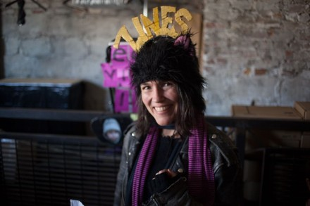 Ayun Halliday came back this year, and she brought her zine hat. Photo by Scarlett North-Cavanaugh