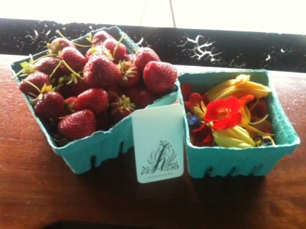 Strawberries from Partners Trace Farm's fruit share. (Via Facebook)