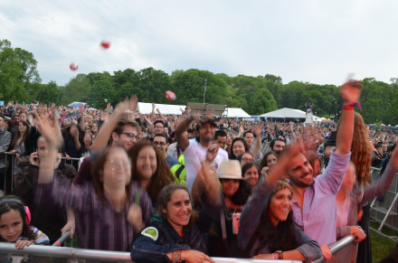 It's a rule of any music festival: you simply MUST have people bouncing beach balls. Photo by Mary Dorn