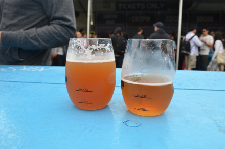 On the left, $13 of beer. On the right, $4 of beer. Photo by Mary Dorn