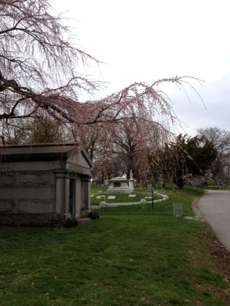 Drink among the dead at Green-Wood Cemetery