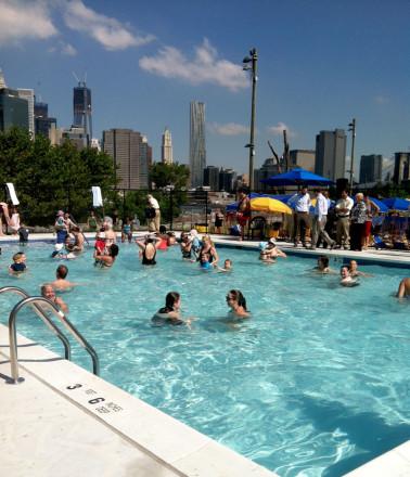 Everybody back in the pool! BK Bridge Park pop-up pool is back June 27