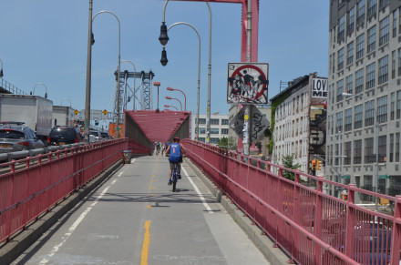 Here's a tip: Don't ride across a bridge. Photo by Mary Dorn