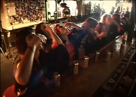 Just your usual day at Hank's where a whole roller derby team does shots together