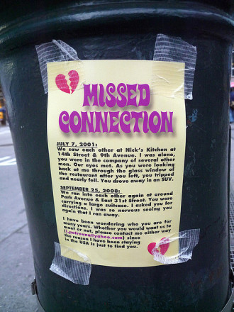 Missed connection short story mocks your feelings