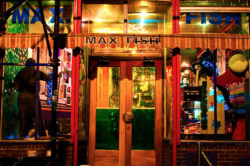The former Max Fish, soon to be out of water in Brooklyn. Via.